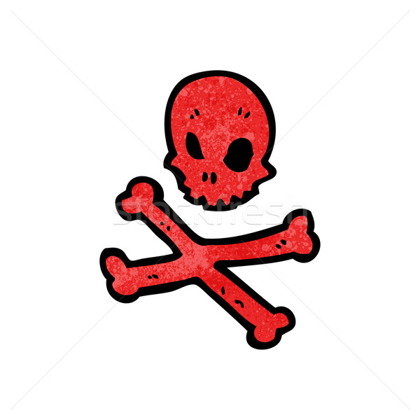 red skull and crossbones symbol Stock photo © lineartestpilot