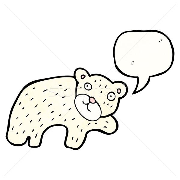 Desenho animado urso polar retro tenha desenho bonitinho Foto stock © lineartestpilot