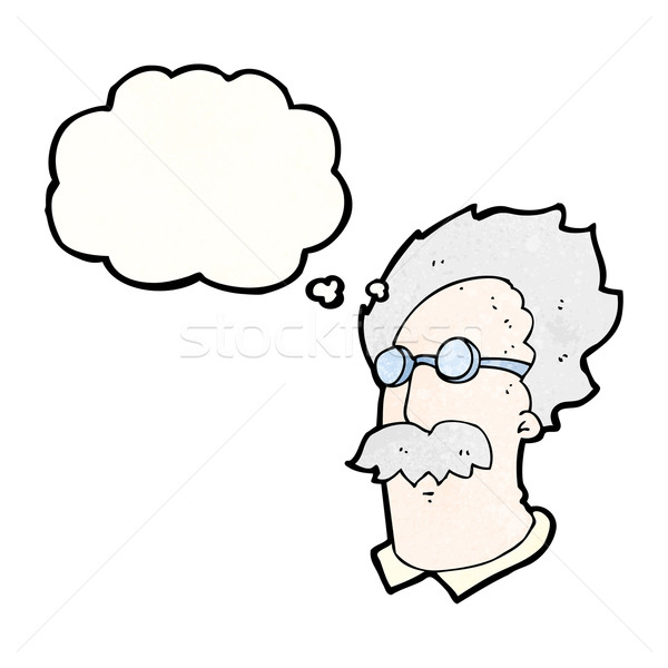 cartoon genius scientist Stock photo © lineartestpilot