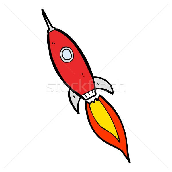 Rajz űrhajó terv művészet retro vicces Stock fotó © lineartestpilot