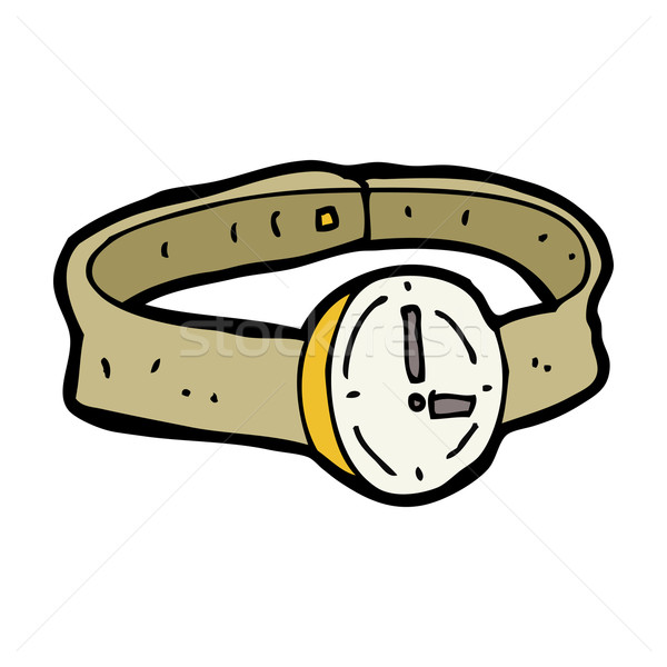 cartoon wrist watch Stock photo © lineartestpilot