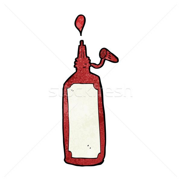 Cartoon кетчуп бутылку дизайна искусства ретро Сток-фото © lineartestpilot