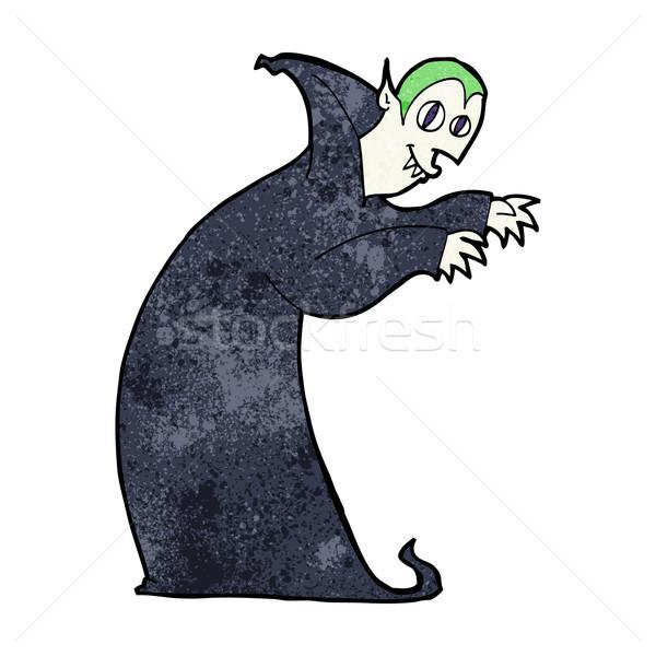 Cartoon vampiro mano diseno loco Foto stock © lineartestpilot