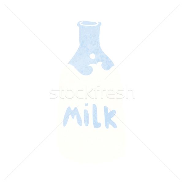 cartoon bottle of milk Stock photo © lineartestpilot