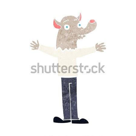 Cartoon дружественный оборотень стороны человека дизайна Сток-фото © lineartestpilot