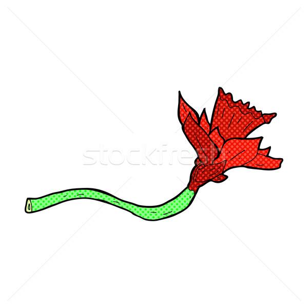 comic cartoon daffodil flower Stock photo © lineartestpilot