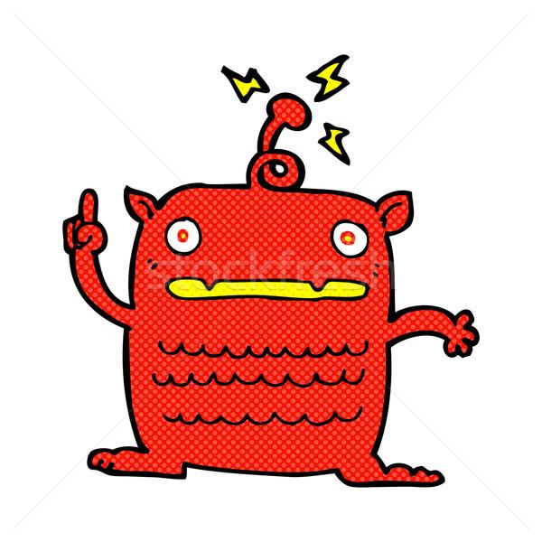 Komik karikatür tuhaf küçük yabancı Retro Stok fotoğraf © lineartestpilot