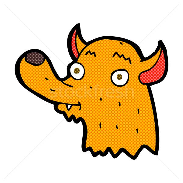 Képregény rajz boldog róka retro képregény Stock fotó © lineartestpilot
