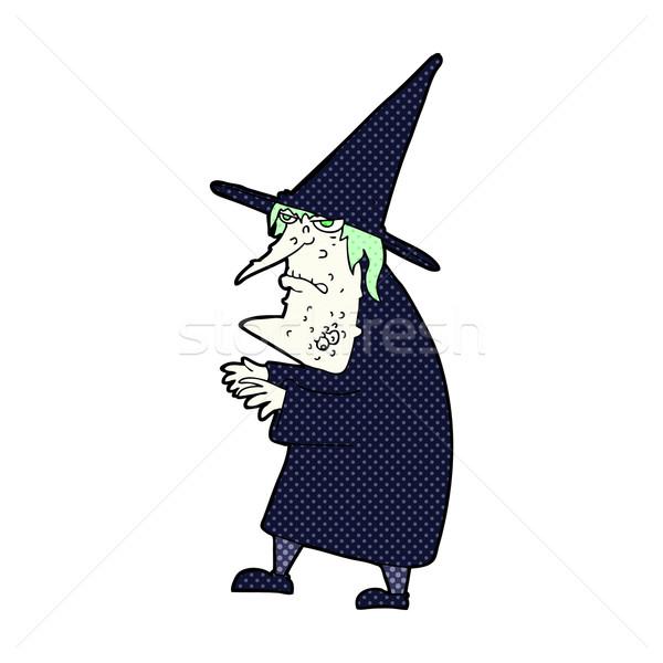 コミック 漫画 醜い 古い 魔女 レトロな ストックフォト © lineartestpilot