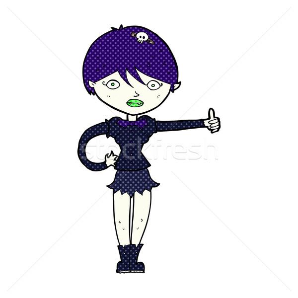 комического Cartoon вампир девушки символ Сток-фото © lineartestpilot