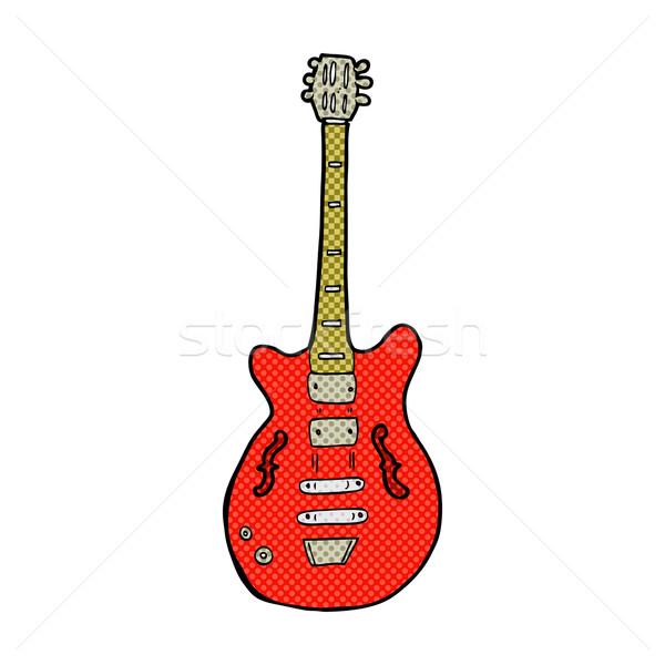 コミック 漫画 エレキギター レトロな スタイル ストックフォト © lineartestpilot