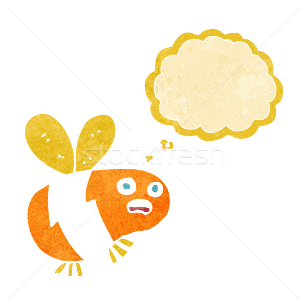 cartoon bee with thought bubble Stock photo © lineartestpilot