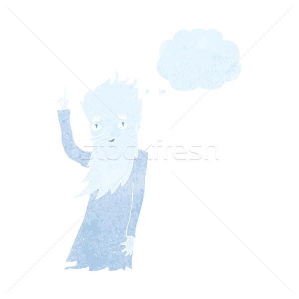 Mróz cartoon bubble myśl strony projektu zimą Zdjęcia stock © lineartestpilot