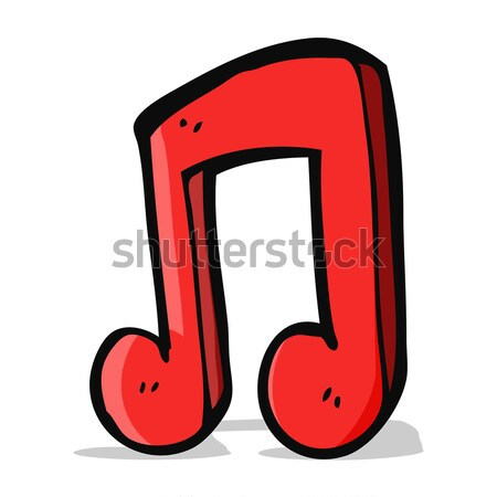 cartoon musical note with speech bubble Stock photo © lineartestpilot