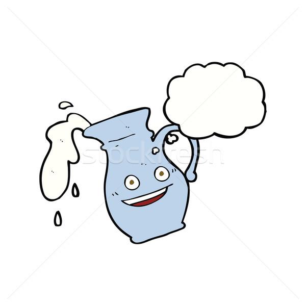 Cartoon bolla di pensiero mano design latte Foto d'archivio © lineartestpilot