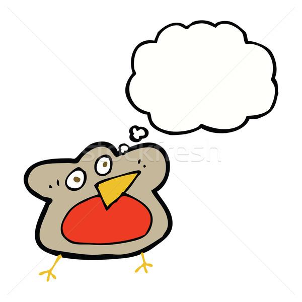Komik karikatür düşünce balonu el dizayn çılgın Stok fotoğraf © lineartestpilot