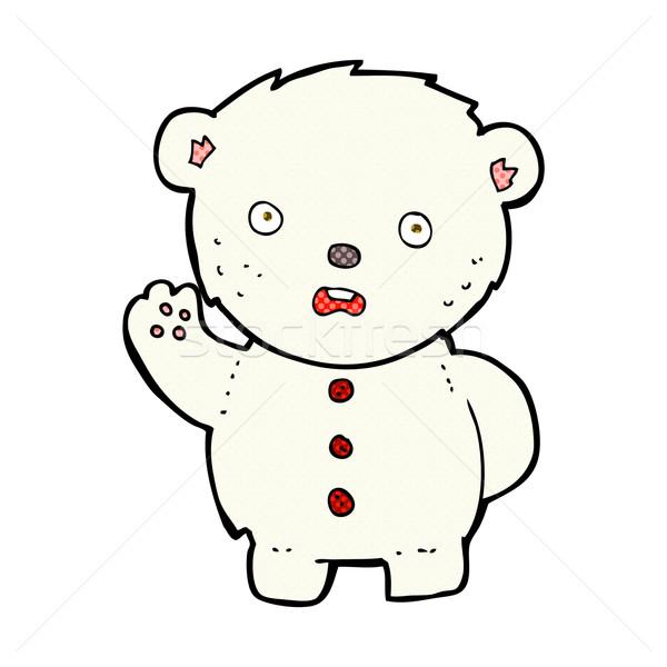 comic cartoon unhappy polar teddy bear Stock photo © lineartestpilot