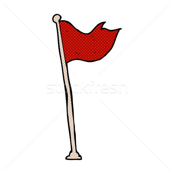 Comic Karikatur Flagge Pol Retro Comic Stock foto © lineartestpilot