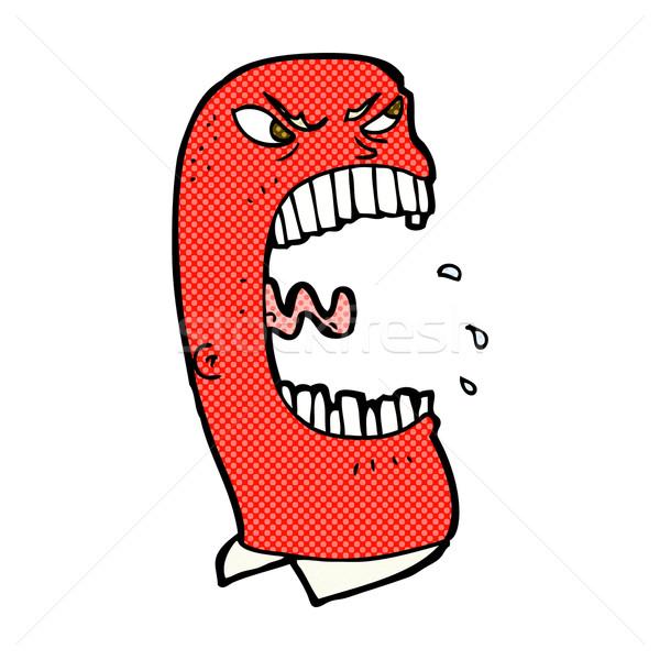 Komiks cartoon wściekły człowiek retro Zdjęcia stock © lineartestpilot