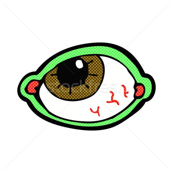 comic cartoon spooky eye Stock photo © lineartestpilot