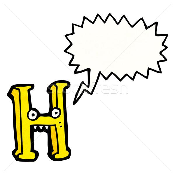 cartoon letter h Stock photo © lineartestpilot