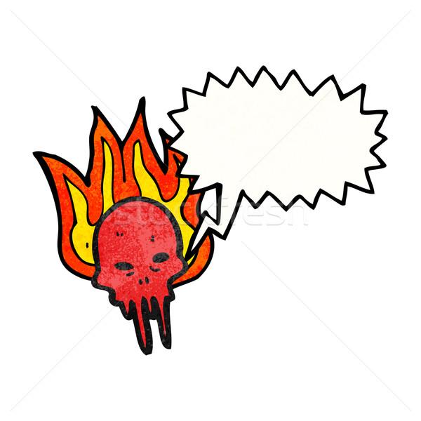 cartoon gross halloween skull Stock photo © lineartestpilot