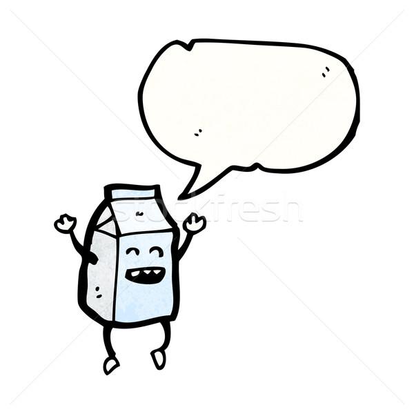 milk carton cartoon character Stock photo © lineartestpilot