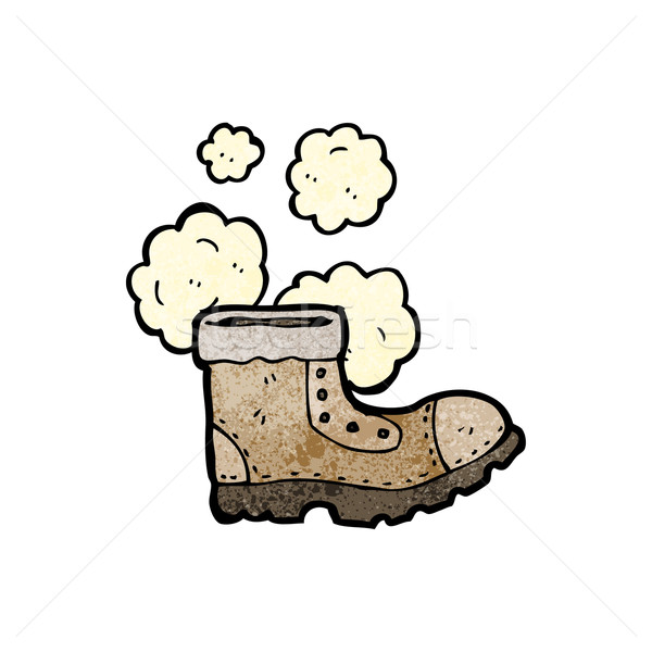 old work boot cartoon Stock photo © lineartestpilot