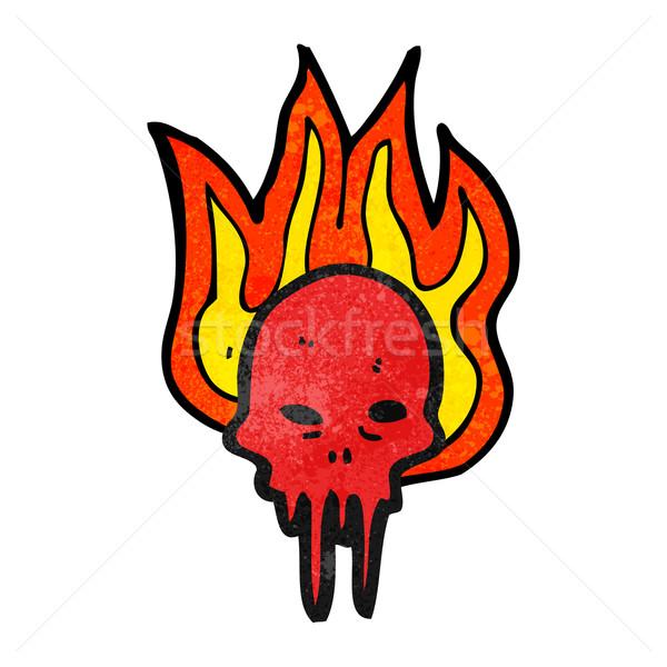 gross halloween skull cartoon Stock photo © lineartestpilot