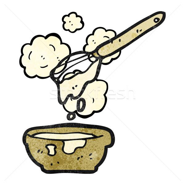 Cartoon cake mengsel kunst retro tekening Stockfoto © lineartestpilot