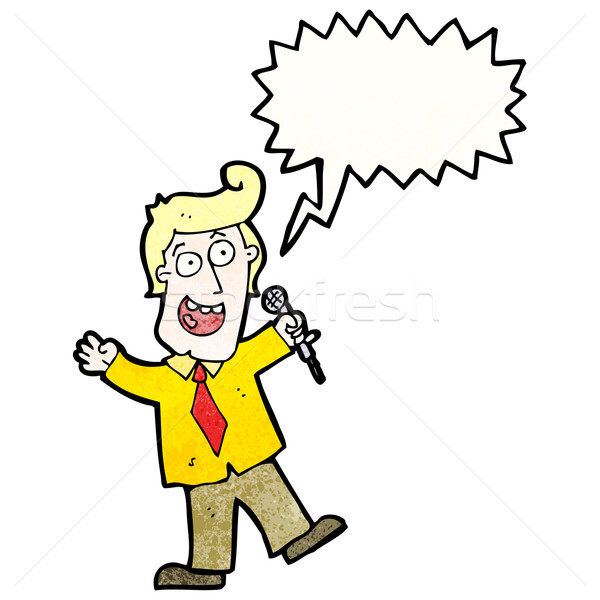 Cartoon spel show gastheer man retro Stockfoto © lineartestpilot