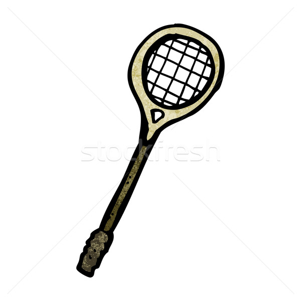 Cartoon squash racket kunst grappig tekening Stockfoto © lineartestpilot
