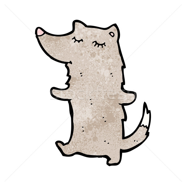 Cartoon мало волка смешные рисунок Cute Сток-фото © lineartestpilot
