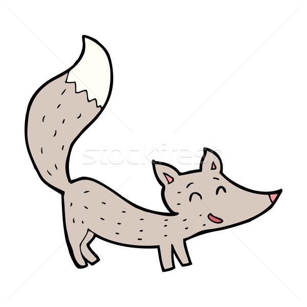 Cartoon мало волка стороны искусства животные Сток-фото © lineartestpilot