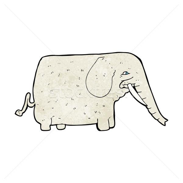 Cartoon duży słoń strony projektu zwierząt Zdjęcia stock © lineartestpilot