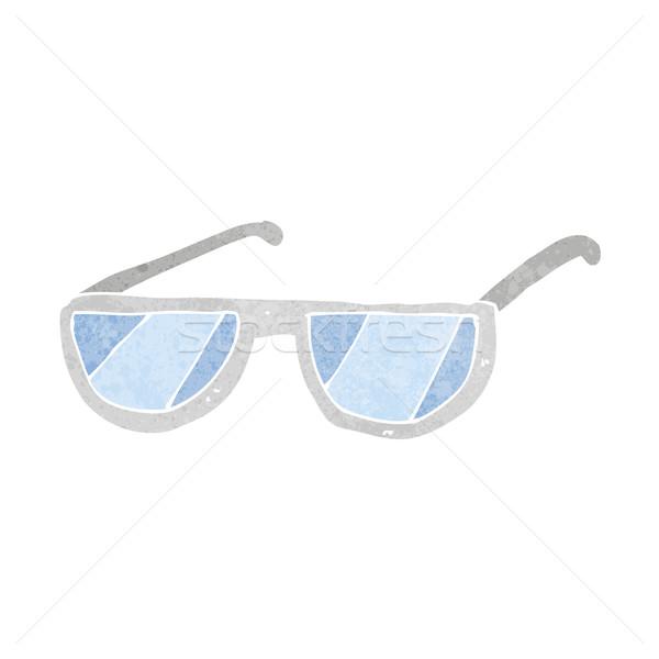 Cartoon occhiali design arte retro divertente Foto d'archivio © lineartestpilot