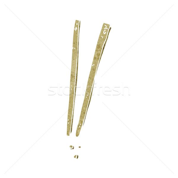 Cartoon палочки для еды стороны дизайна Crazy клипа Сток-фото © lineartestpilot