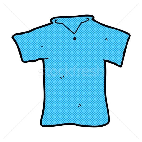 comic cartoon t shirt Stock photo © lineartestpilot