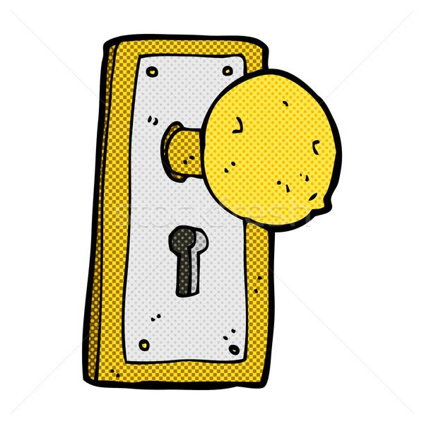 comic cartoon old door knob Stock photo © lineartestpilot