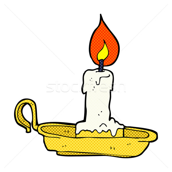 comic cartoon old candlestick Stock photo © lineartestpilot
