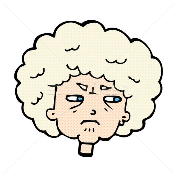 comic cartoon bitter old woman Stock photo © lineartestpilot
