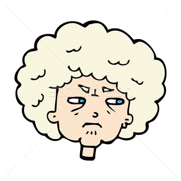 комического Cartoon горький старуху ретро Сток-фото © lineartestpilot