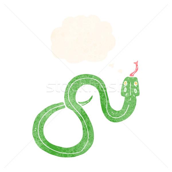 Rajz kígyó gondolatbuborék kéz terv művészet Stock fotó © lineartestpilot