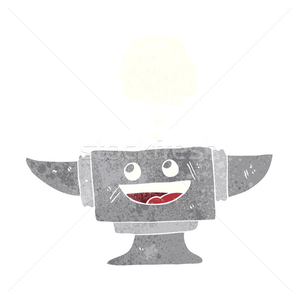 Stock photo: cartoon blacksmith anvil with thought bubble