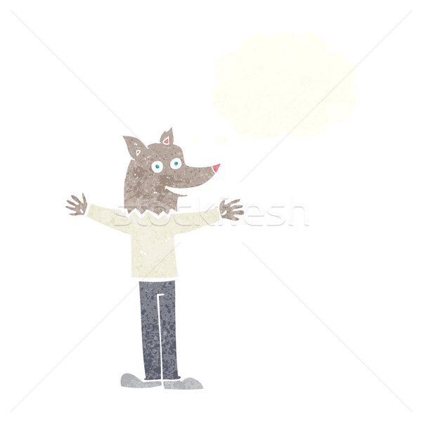 cartoon werewolf with thought bubble Stock photo © lineartestpilot
