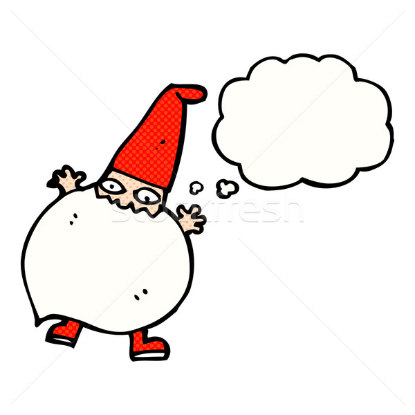 cartoon tiny santa with thought bubble Stock photo © lineartestpilot