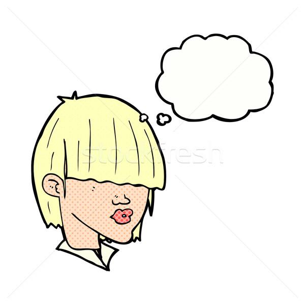 Cartoon moda bolla di pensiero mano design Foto d'archivio © lineartestpilot