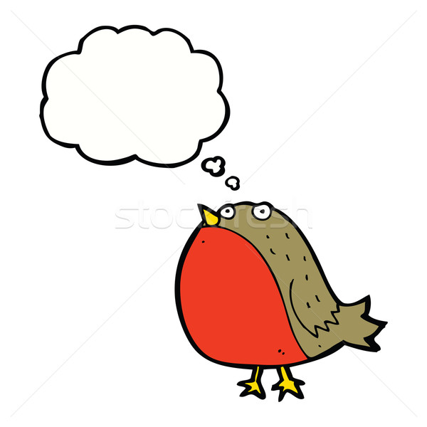 cartoon robin with thought bubble Stock photo © lineartestpilot