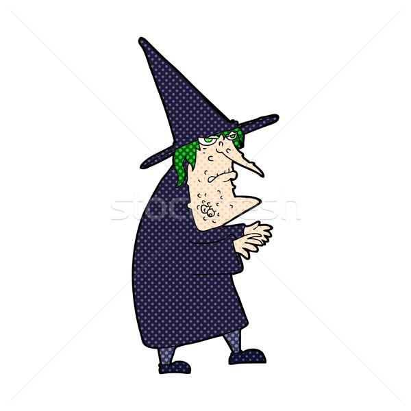 комического Cartoon уродливые старые ведьмой ретро Сток-фото © lineartestpilot