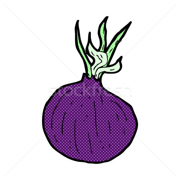 comic cartoon red onion Stock photo © lineartestpilot